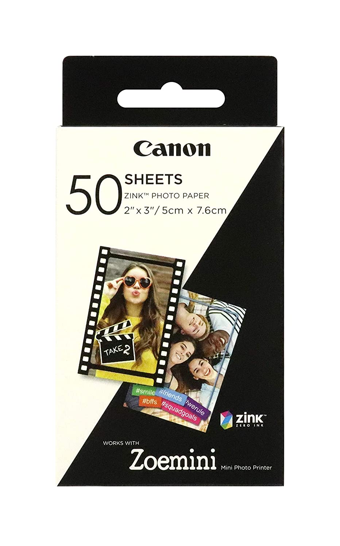 Papel fotogr/áfico Canon Zoemini ZINK 50 hojas