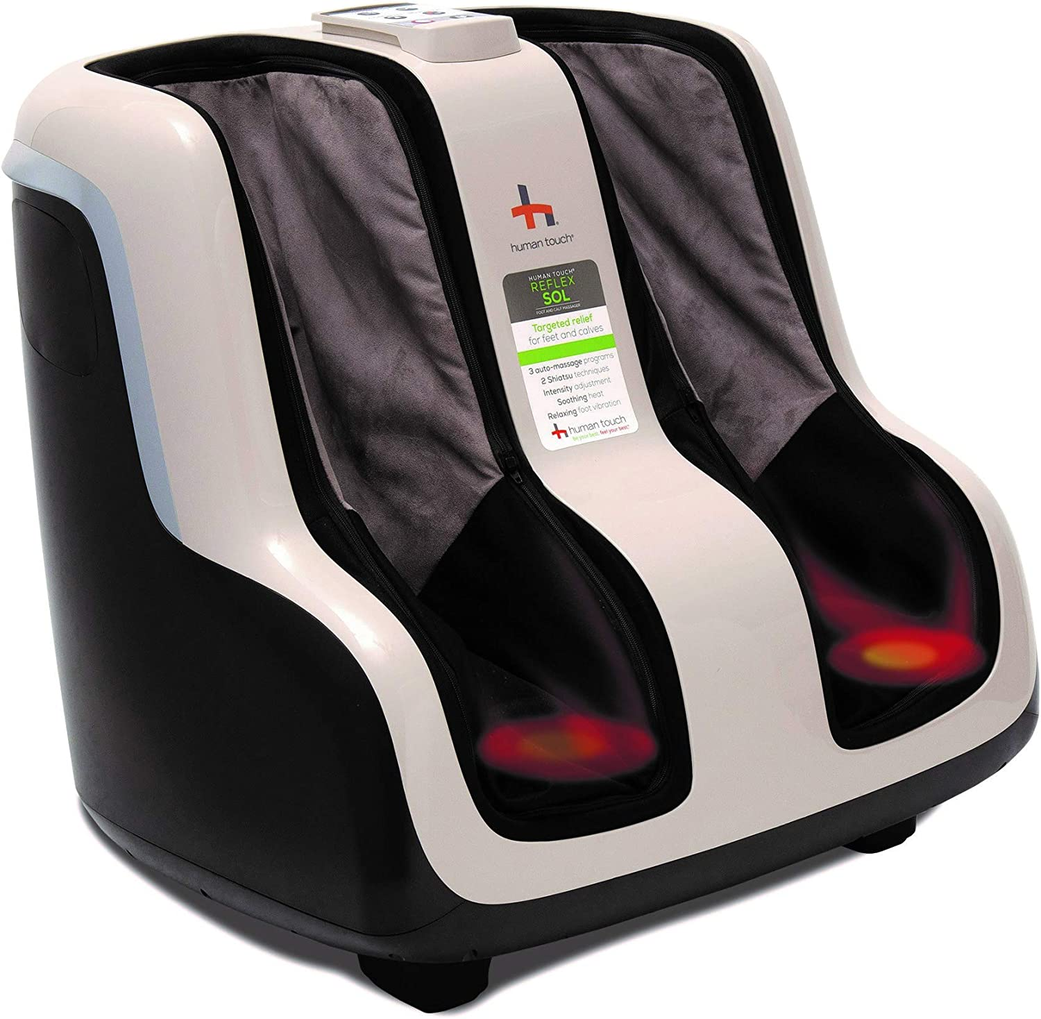 Human Touch Reflex SOL Foot and Calf Relaxation Shiatsu Massager with Heat and Vibration- Patented Technology