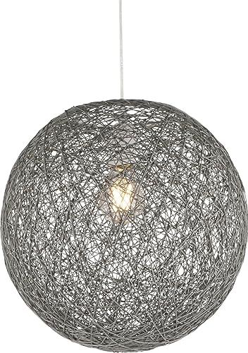 Lámpara de techo de papel trenzado en forma de bola con 1 bombilla ...