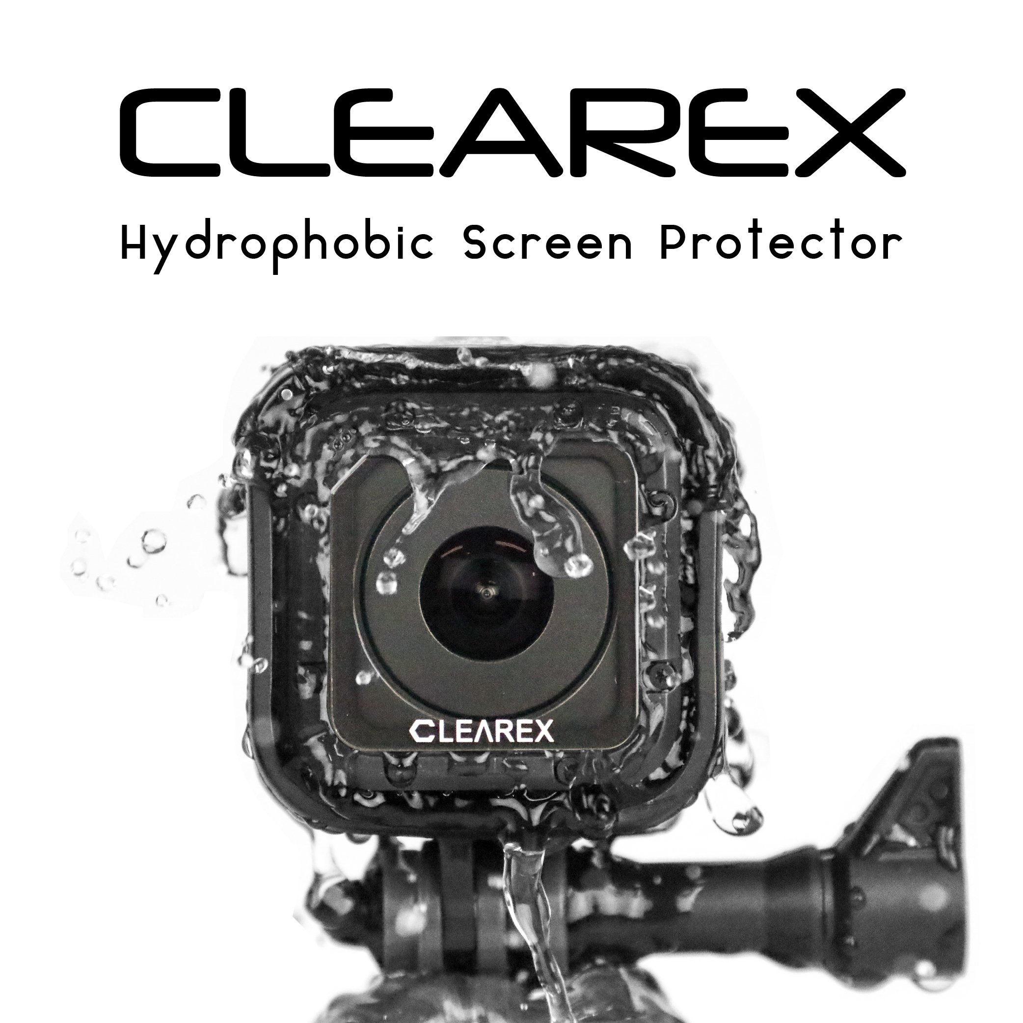 Hydrophobic Screen Protector for GoPro Hero Session 4 & 5 | Clearex - Water Repellent, GoPro Lens, Ultra-Clear Tempered Glass, Anti-scratch | Capture Clearly by AXTION by Axion