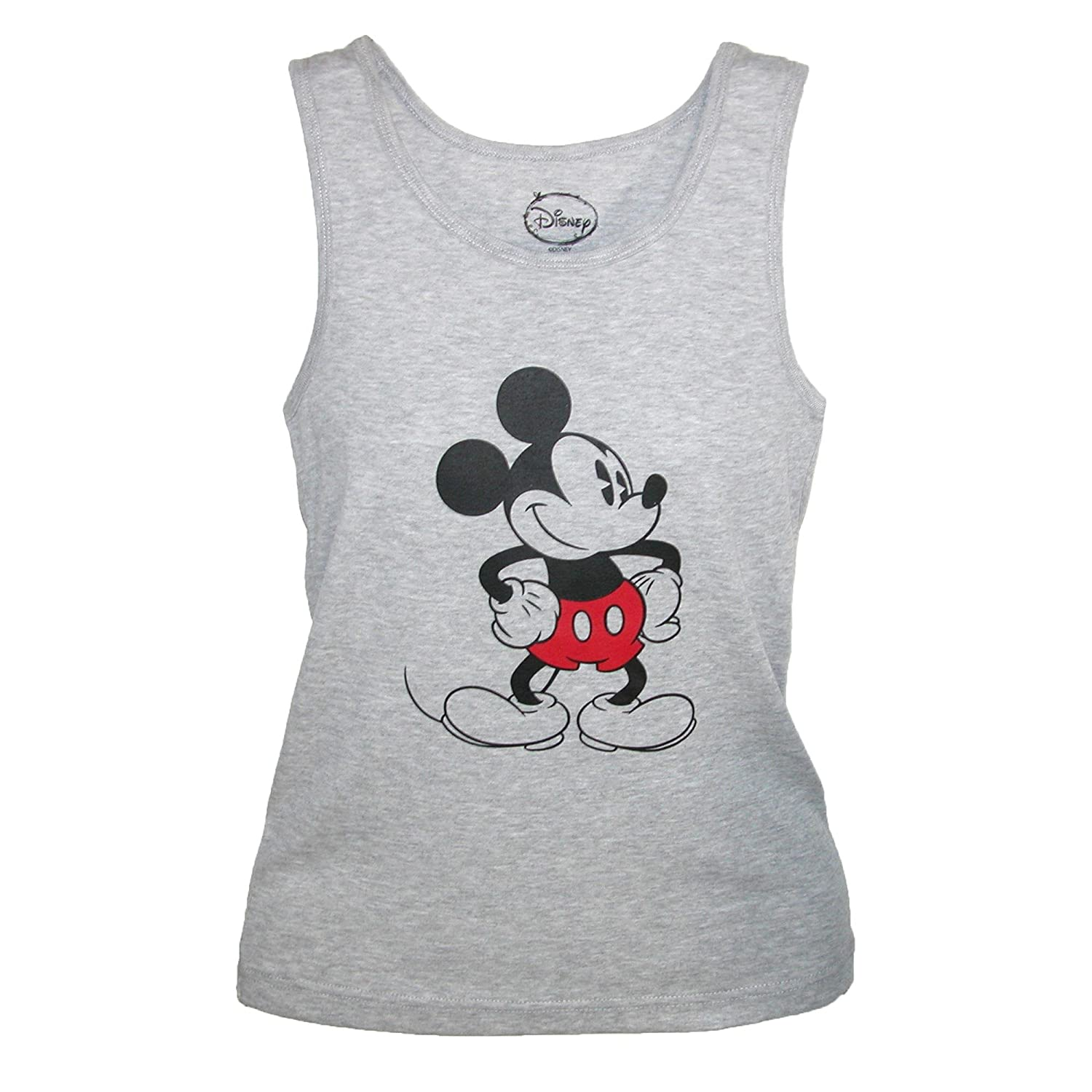 CTM Mickey Mouse Tank Top, Large, Grey JL-JT2901-GRY-L