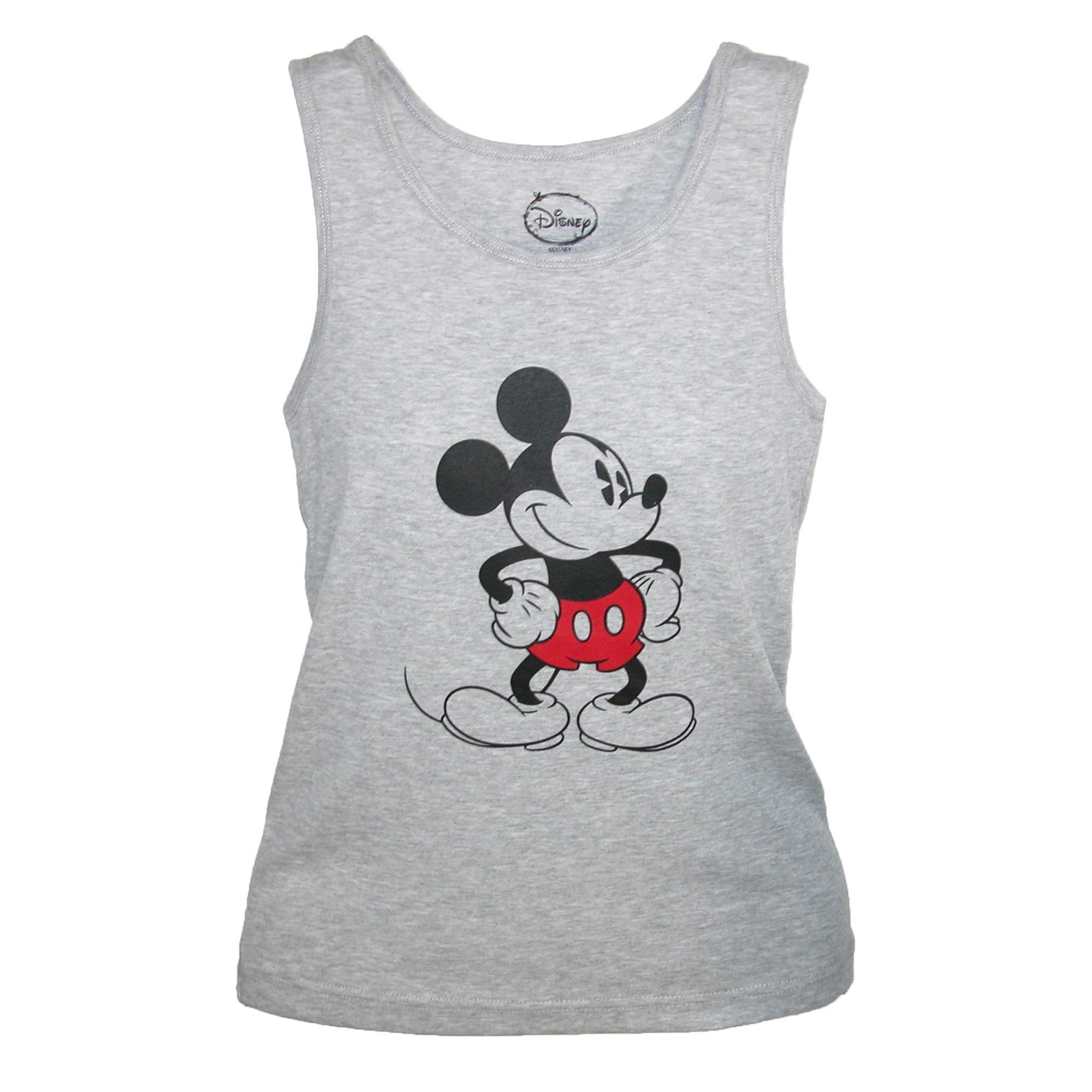 Disney Mickey Mouse Tank Top, Large, Grey