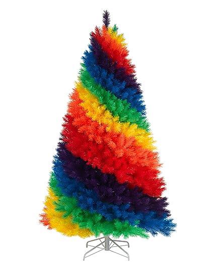 7 Unlit Color Burst Rainbow Artificial Christmas Tree Amazon Co Uk
