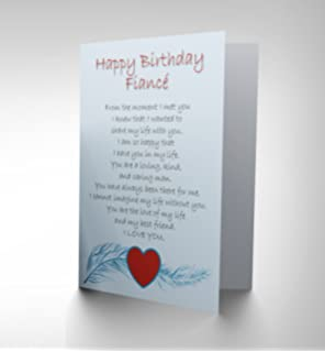Amazon fantastic fiance birthday birthday card office products birthday fiance love poem new art greetings gift card cp1905 bookmarktalkfo Image collections