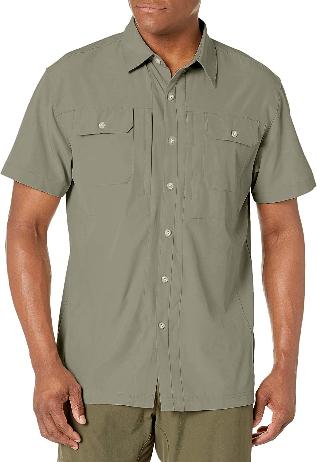 Little Donkey Andy Men's Lightweight Short Sleeve Shirt Quick Dry Stretch Shirt for Hiking Travel, UPF50 : Clothing