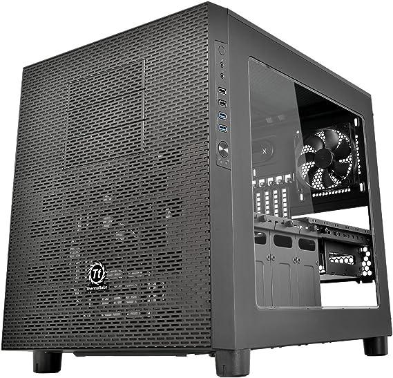 Thermaltake Core X5 Black – Caja de Ordenador (Placa Base ATX chasis apilable de refrigeración líquida Certificado Cubo Casos Negro: Amazon.es: Informática