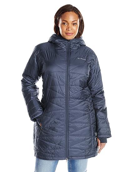 Columbia Mighty Lite Plus tamaño de la mujer chaqueta con capucha, mujer, Nocturnal: Amazon.es: Deportes y aire libre
