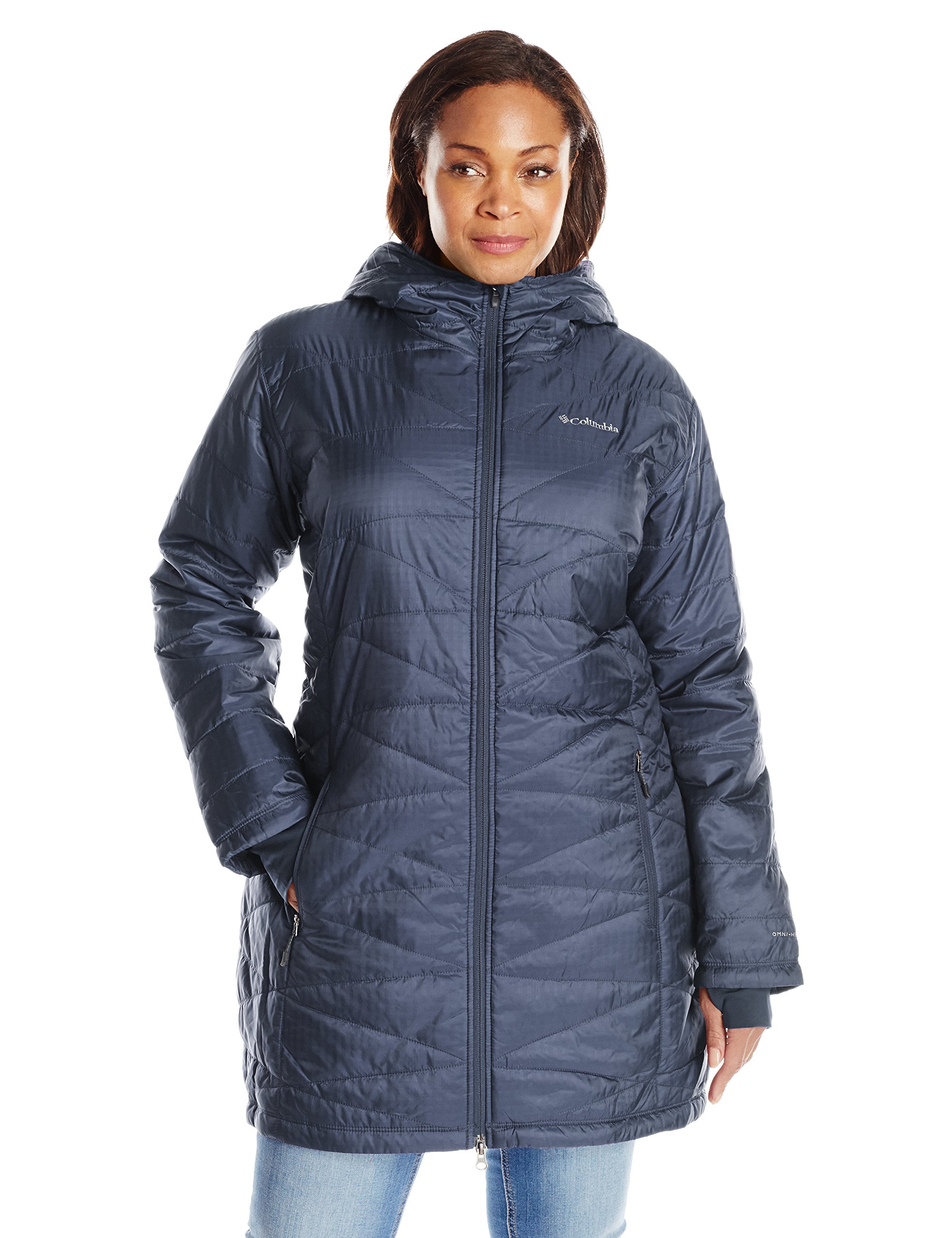 Columbia Women's Plus Mighty Lite Hooded Jacket, Nocturnal, 1X