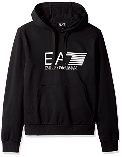 Emporio Armani Mens EA7 Mens Train Visibility Hooded Sweatshirt in Black - S