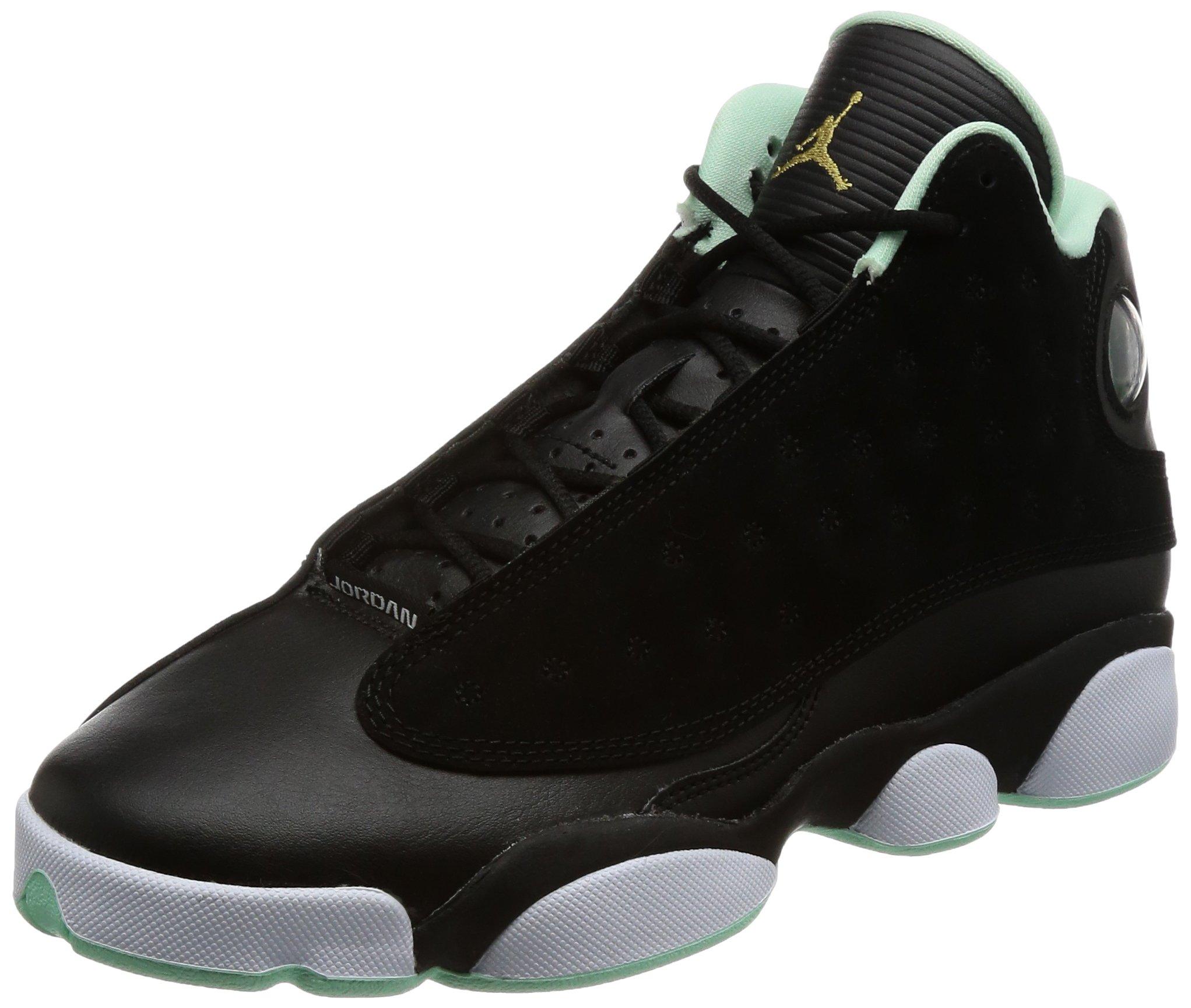 Jordan Air Retro 13 GG Big Kid's Shoes Black/Metallic Gold/Mint Foam 439358-015 (6.5 M US) by Jordan
