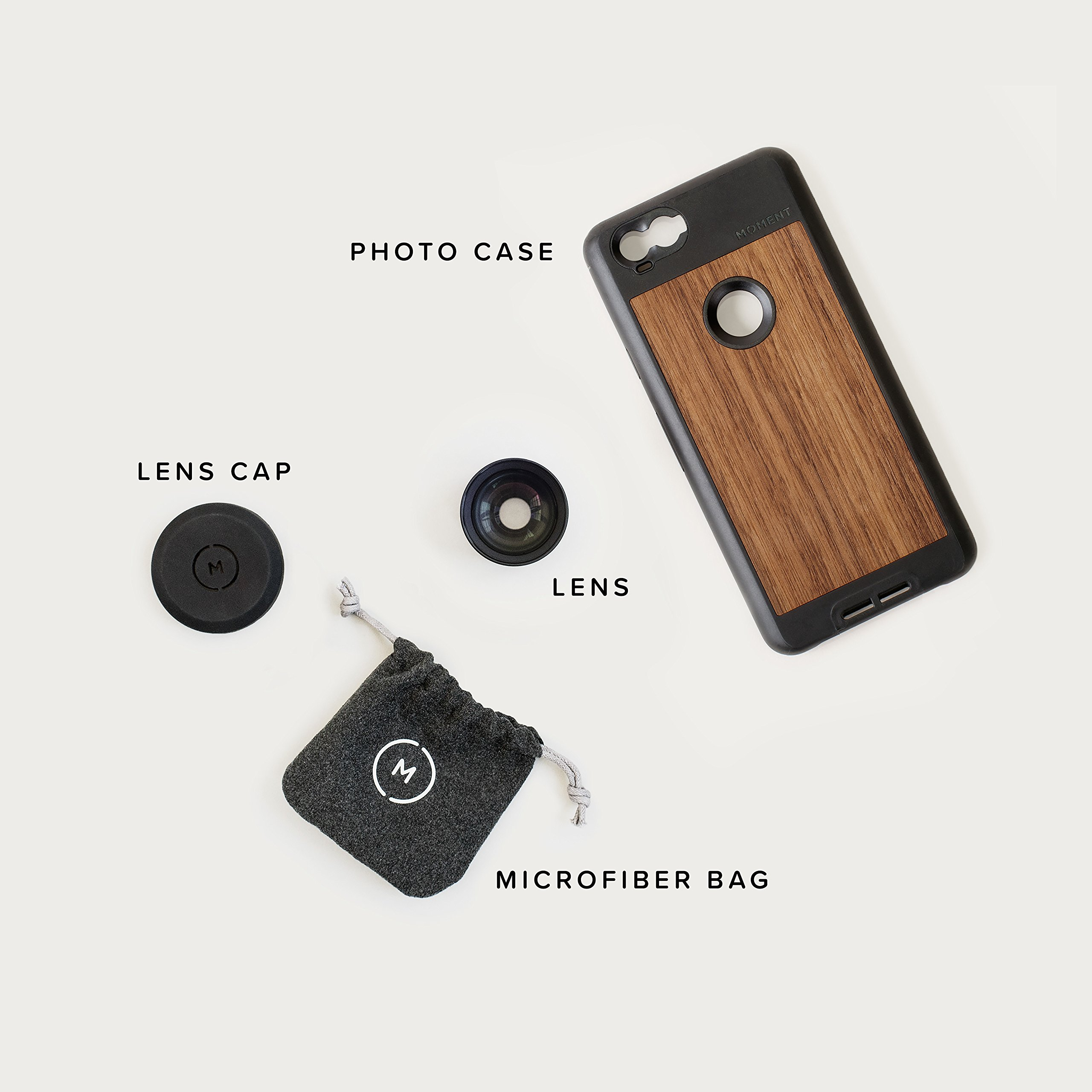 Pixel 2 Case with Telephoto Lens Kit || Moment Black Canvas Photo Case plus Tele Lens || Best google zoom attachment lens with thin protective case. by Moment (Image #7)