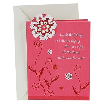 b4618ce5e83 Amazon.com : Hallmark Mother's Day Greeting Card (Closeness, Sharing ...