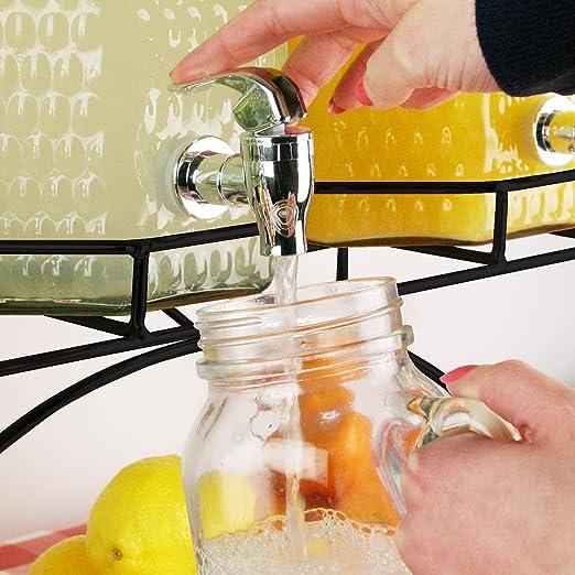 Del Sol - Dispensador de bebidas triple, 12 l. Dispensador para zumos, cócteles o limonada: Amazon.es: Industria, empresas y ciencia
