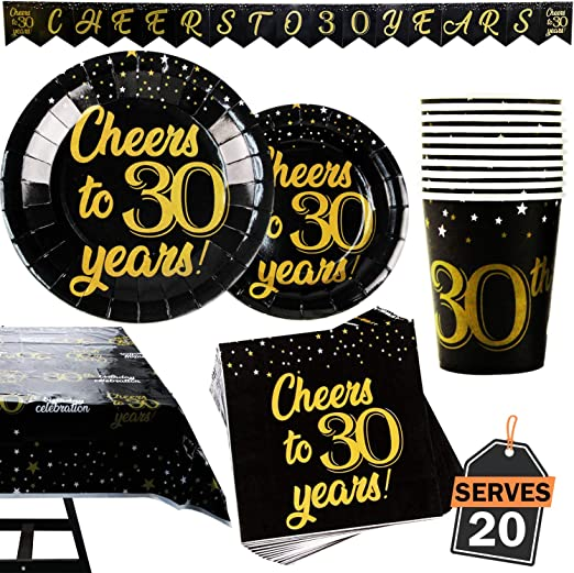 Amazon.com: Juego de suministros para fiesta de cumpleaños ...