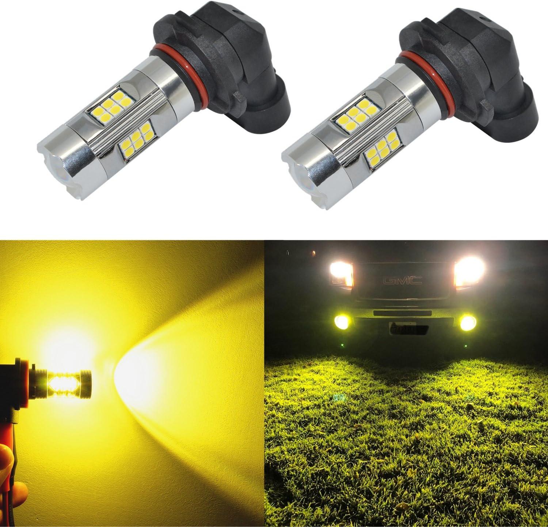 LED 30W 9040 Yellow 3000K Two Bulbs Fog Light Replacement Lamp Plug Play Lamp OE