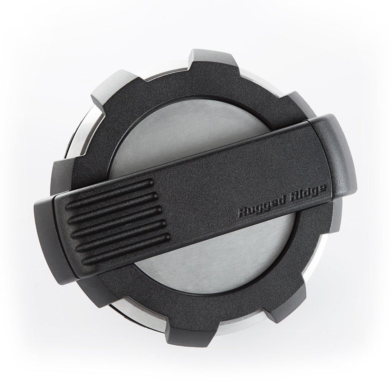 Non-Lock, Brushed Alum.; 07-18 JK Rugged Ridge 11425.1 Elite Fuel Door