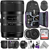 Sigma 18-35mm F1.8 Art DC HSM Lens for Canon DSLR Cameras w/Sigma USB Dock & Advanced Photo and Travel Bundle (Sigma 4 Year USA Warranty)