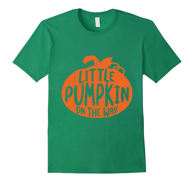 'Little Pumpkin On The Way ' Maternity Halloween Gift Shirt-FL