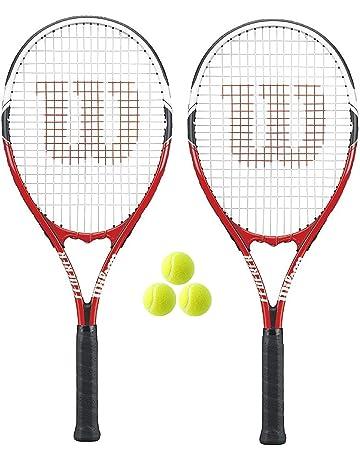 WILSON 2 x Federer Adult Tennis Rackets + 3 Tennis Balls 824ec453e96b5