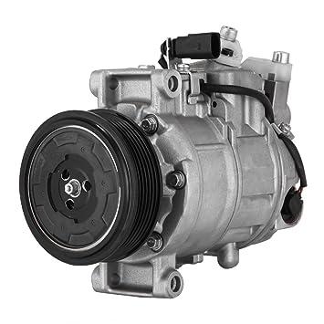 BestAuto AC Compresor Aire Acondicionado Compresor a/c compresor embrague para Audi VW: Amazon.es: Coche y moto