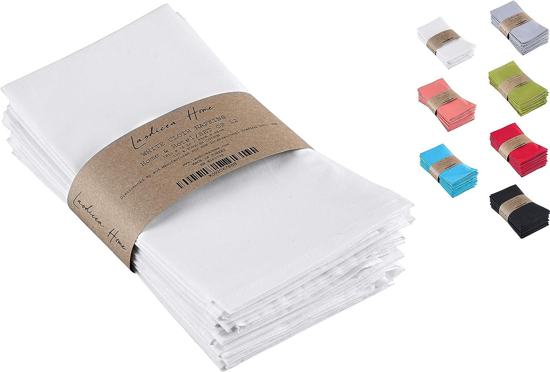 100% cotton white cloth napkins