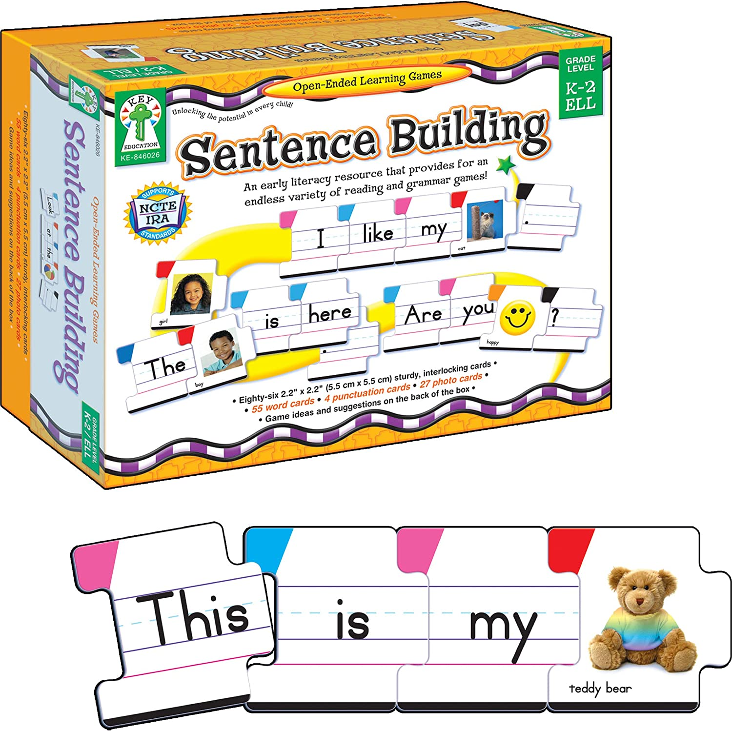 Carson Dellosa – Sentence Building Literacy Resource board game for reading fluency