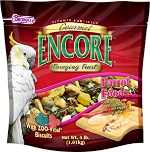 F.M.BROWN'S Encore Gourmet Parrot Food, Net Wt 4 lb