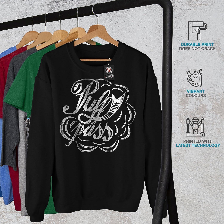 Smoke Casual Jumper wellcoda Puff 42 Cannabis Rasta Mens Sweatshirt