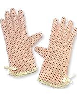 MiRii MeRii)ミリーメリー) UVカット 手袋 10種類 水玉 柄 清涼 + 指まで滑り止め