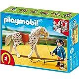 PLAYMOBIL 5107 - Knabstrupper mit rot-grauer Pferdebox