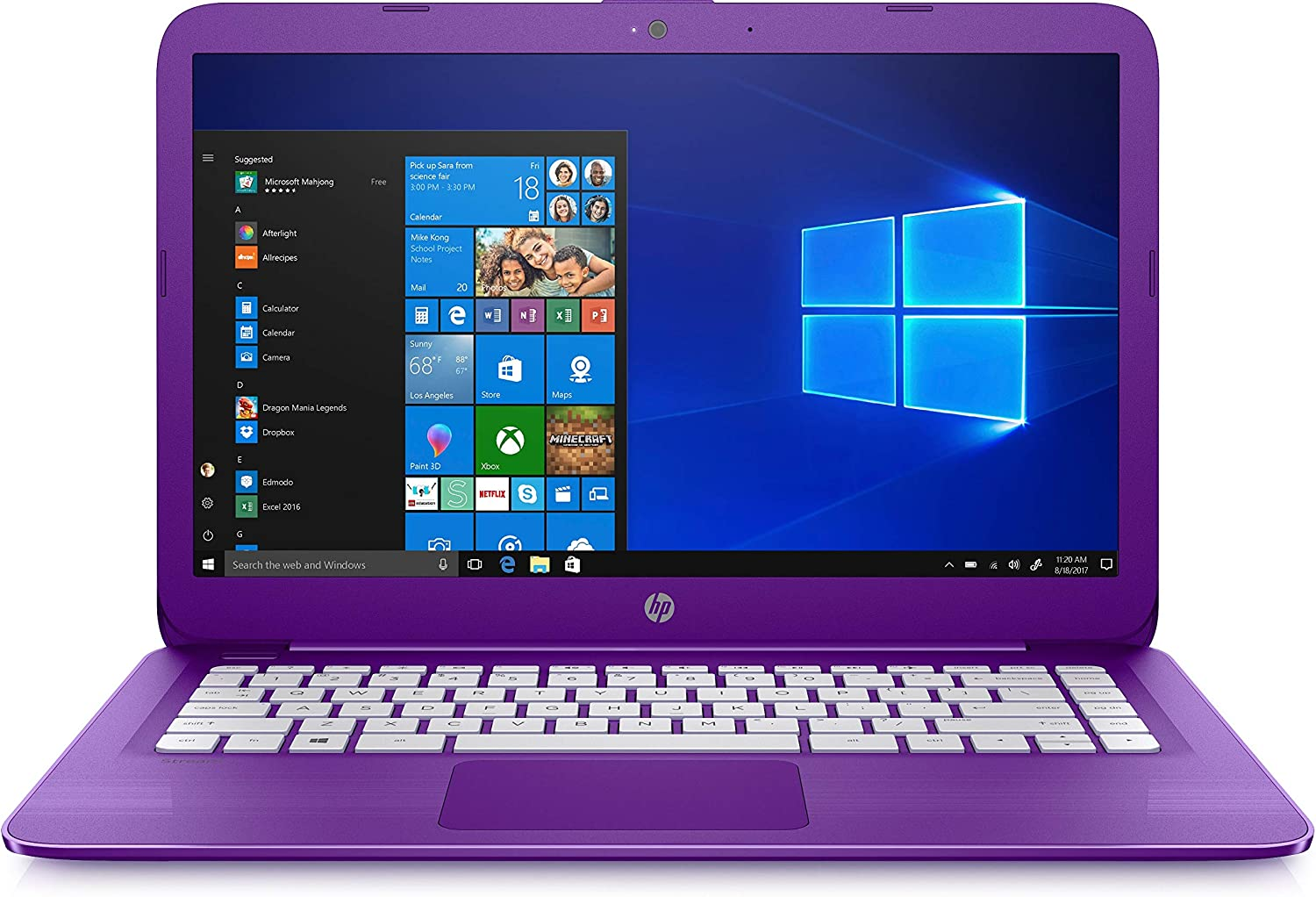 "HP 14-cb113wm Stream 14"" Celeron N4000 4GB 32GB eMMC Windows 10 Purple"