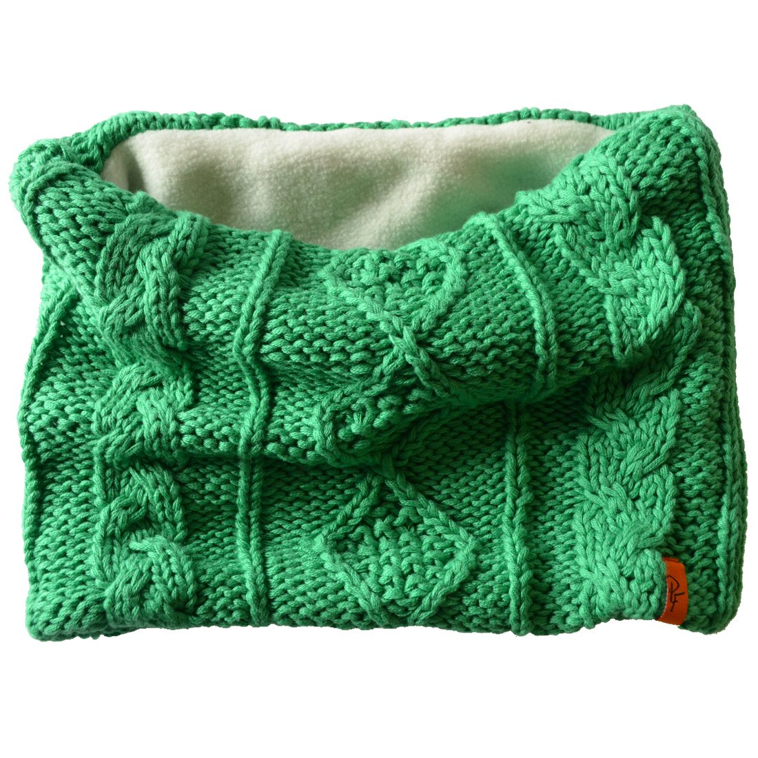Patrick Francis Kids Chunky Knitted Style Snood with Fleece Insert, Green Colour