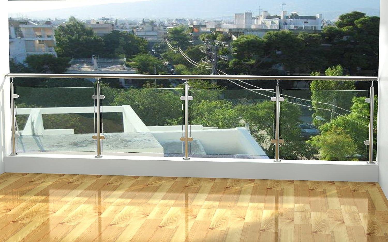 4tlg Glashalter Glasklemme Glas Klemmhalter – Edelstahl AISI 304 – Spiegelnde Oberfläche … Amazon Baumarkt