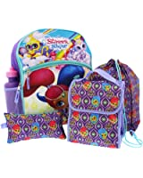 Shimmer and Shine 5 piece Backpack School Set