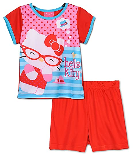a8a329abb Amazon.com  Hello Kitty Girls Toddlers Pajama Set Sizes 2T-4T  Clothing
