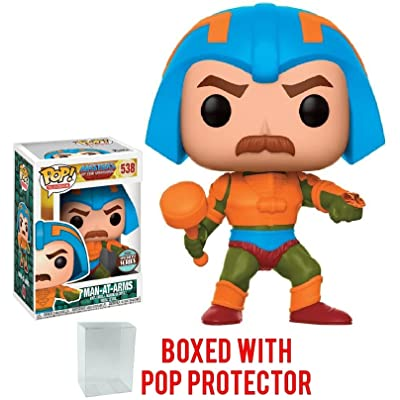 Funko Pop! Television: Masters of the Universe - Man At Arms Specialty Series Vinyl Figure (Bundled with Pop BOX PROTECTOR CASE): Toys & Games