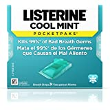 Listerine PocketPaks Dissolving Breath Strips - Cool Mint Flavor - Strips by Listerine