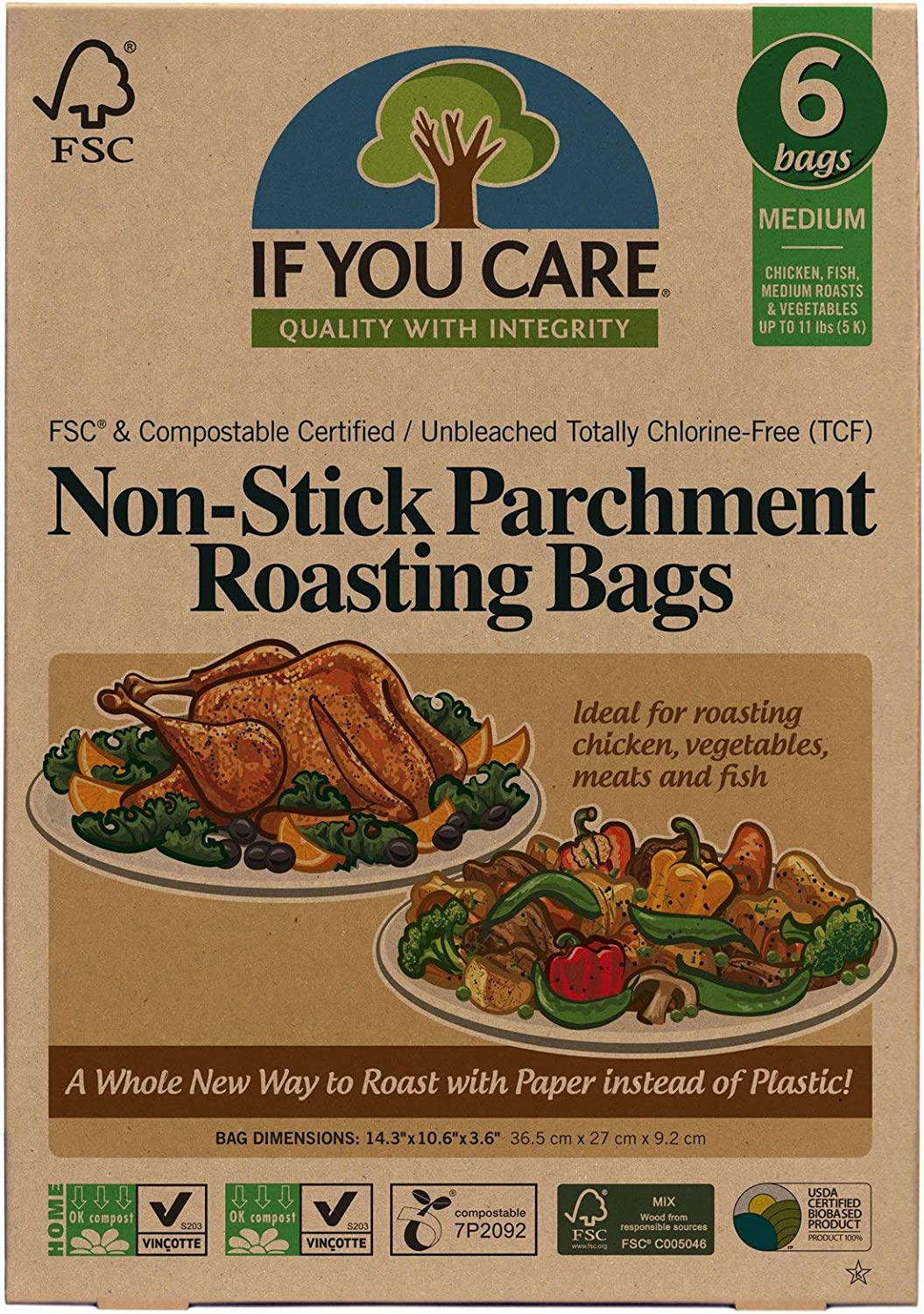 IF YOU CARE Non-Stick Parchment Roasting Bags, Medium 81NHuacBPLL