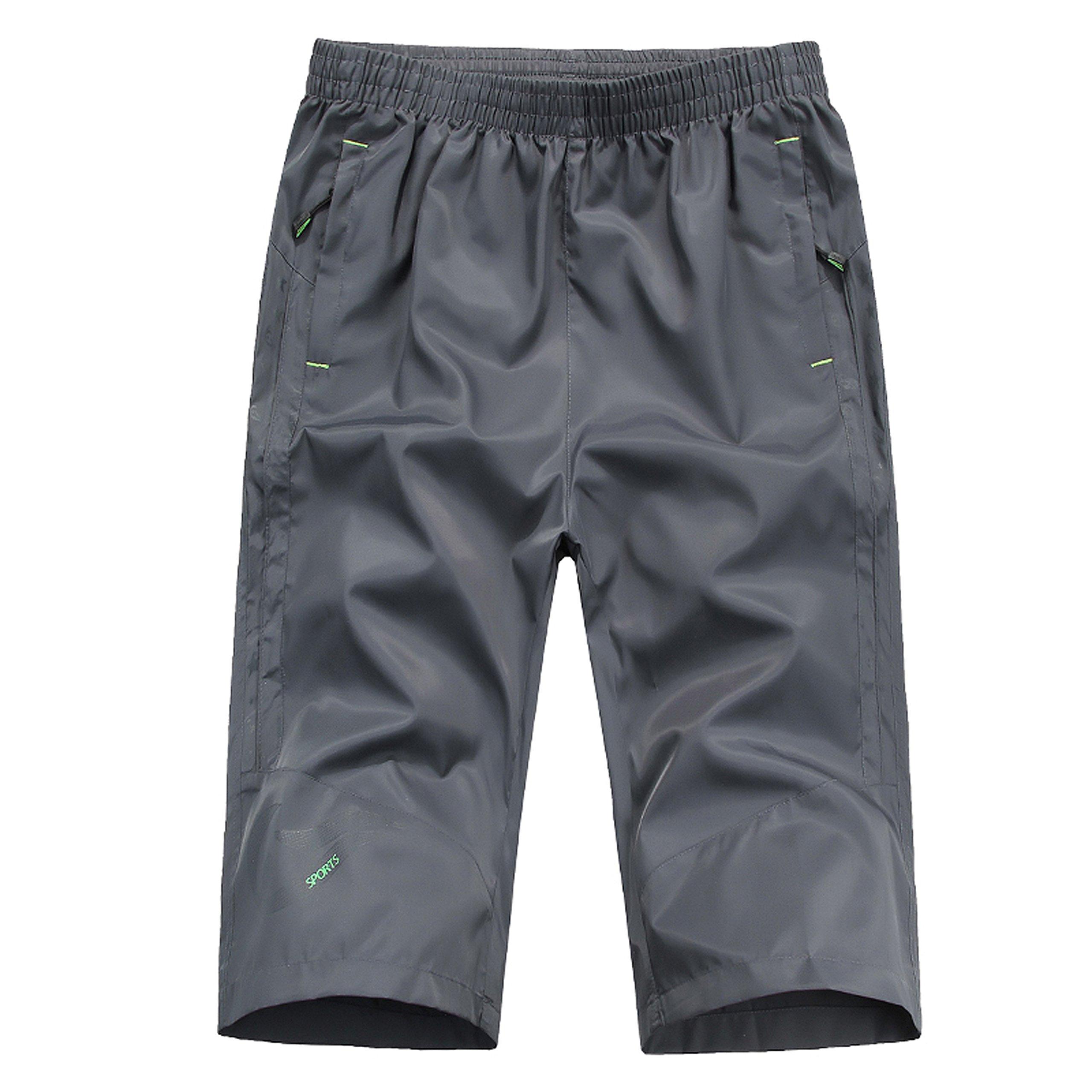 MAGNIVIT Men Shorts Jogger Shorts Quick Dry White South Wrestling Fishing Running Pants
