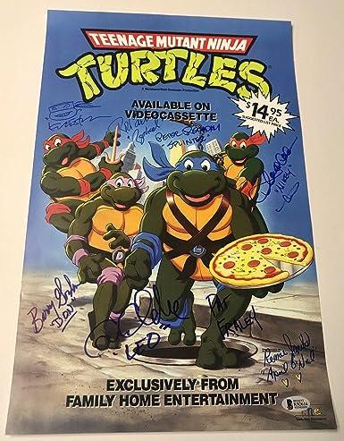 Amazon.com: Teenage Mutant NINJA TURTLES Cartoon Cast Signed ...