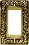 Franklin Brass 64047 Paisley Single Decorator Wall Plate / Switch Plate / Cover, Tumbled Antique Brass