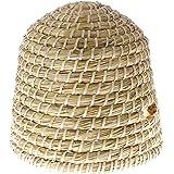 SIDCO Bienenkorb mit Einfluglöchern Geflochten Stroh Korb Bienenstock ca. 30 cm Hoch