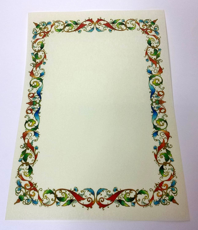 N° 20 PERGAMENA A4 STAMPABILE DIPLOMA CARTA DECORATA avorio cartoncino marmor KARTOS