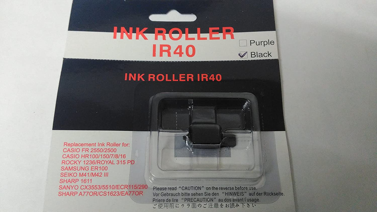 10 Pack Replacement IR40 Black Ink Rollers for Cash Registers and Tills The Monitor Shop