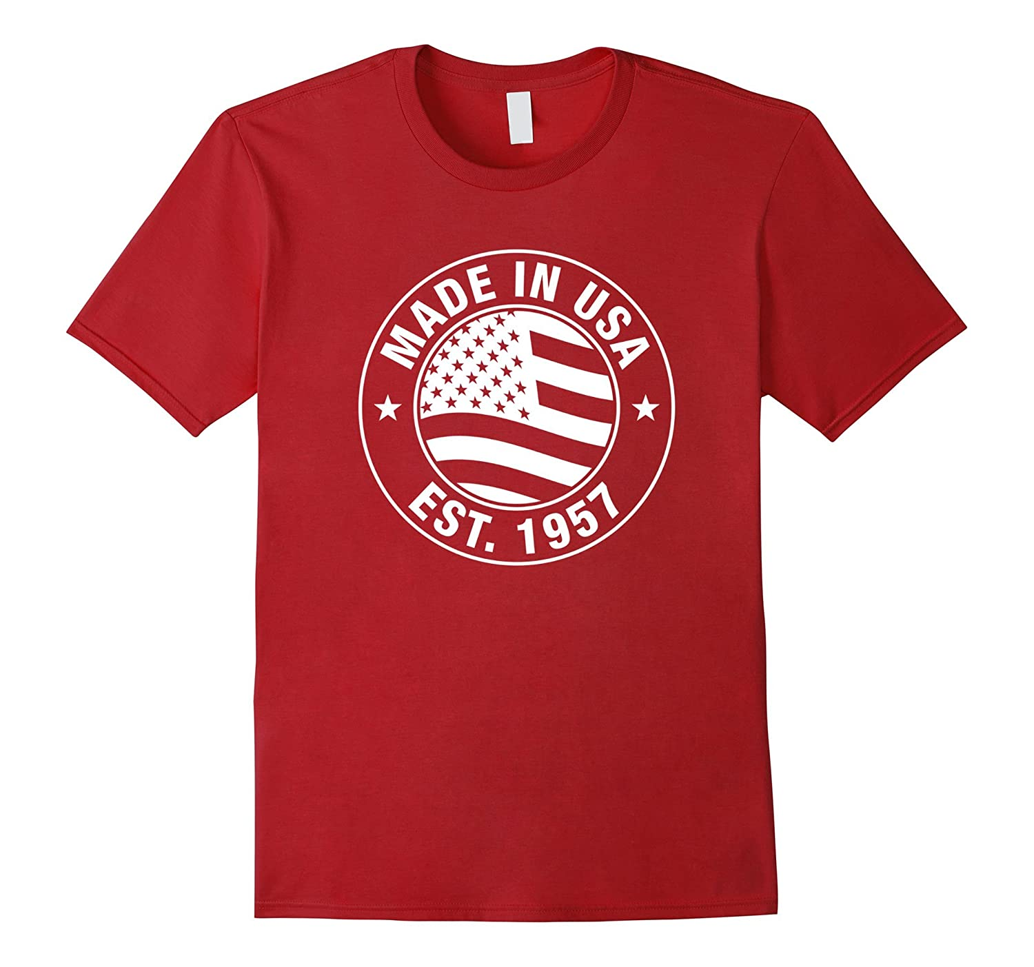 Made In USA EST 1957 60 Years Old 60th Birthday Gift Tee Art