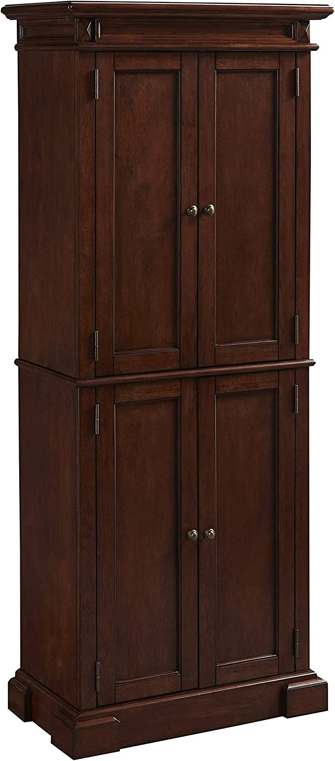 Amazon Com Home Styles Freestanding Americana Kitchen Pantry In