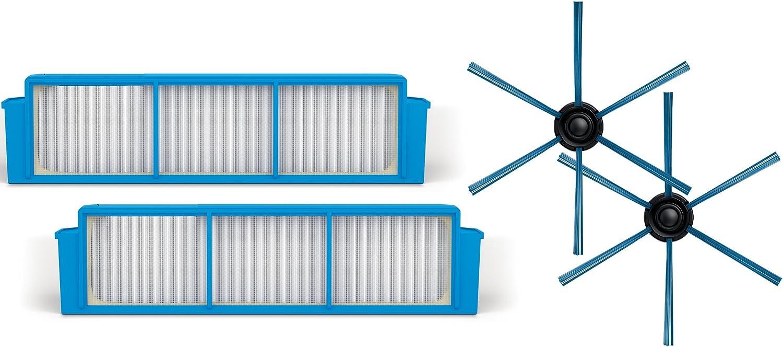 Philips FC8007/01 accesorio y suministro de vacío Robot vacuum Filtro y cepillo - Accesorio para aspiradora (Robot vacuum, Filtro y cepillo, Azul, 2 pieza(s)): Amazon.es: Hogar