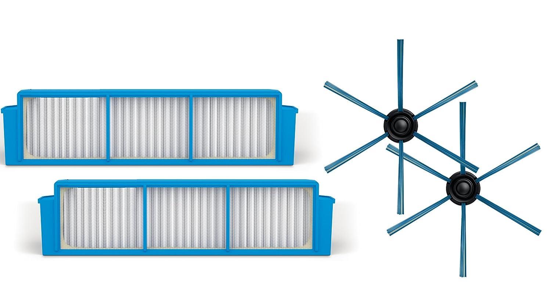 Acquisto Philips FC8007/01 Kit Sostitutivo per Robot Aspirapolvere SmartPro Easy FC8792/01, Include 1 Coppia di Spazzole e 2 Filtri HEPA 12 Prezzo offerta