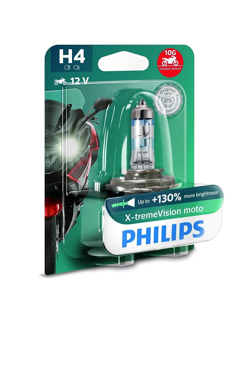 Philips 12342XV+BW X-tremeVision Moto +130% H4 Motorrad-Scheinwerferlampe, 1 Stü ck