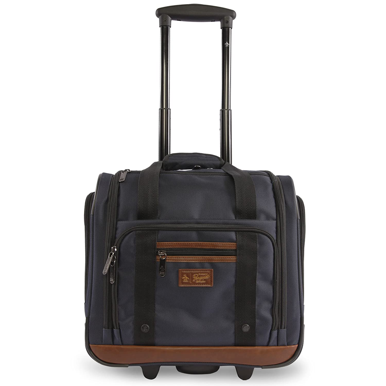 ORIGINAL PENGUIN Wheeled Under The Seat Carry On Bag-16, Navy